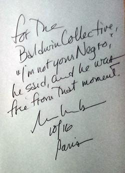 message de Russel Banks au Collectif