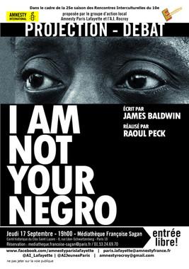 Projection-débat I AM NOT YOUR NEGRO - en présence de Samuel Légitimus, Président du Collectif James