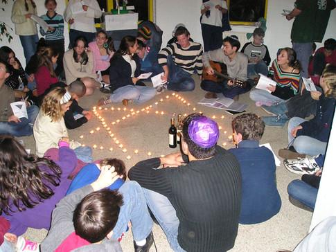 Celebrating havdalah at Netzer summer camp, Amsterdam