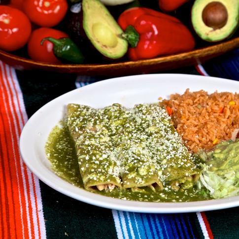 Enchiladas en Salsa Verde