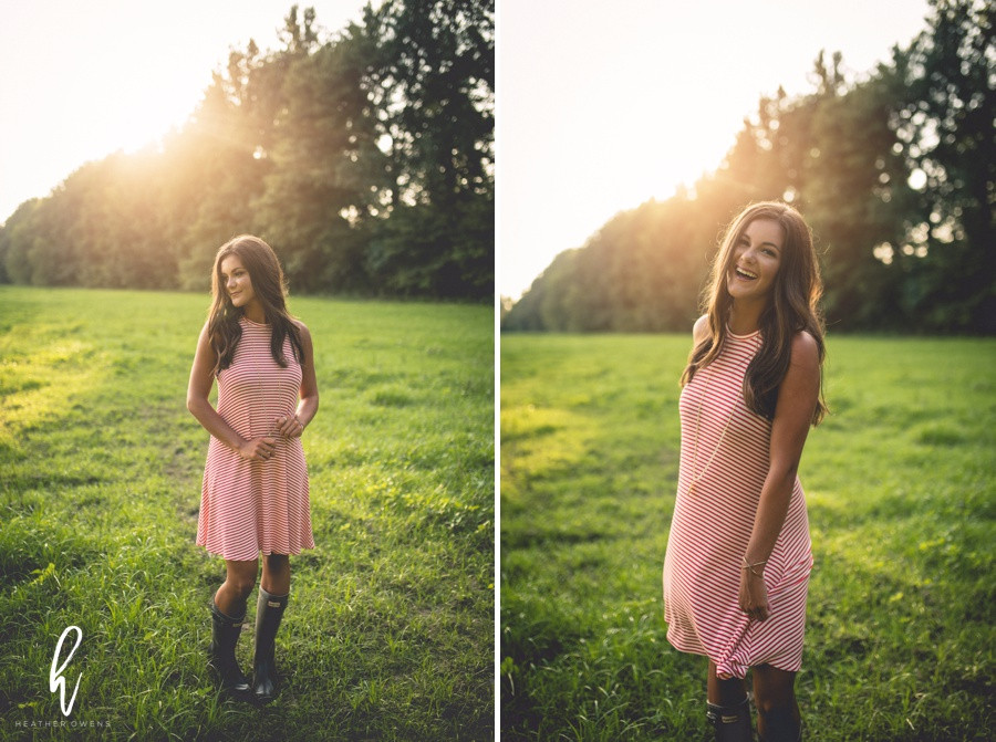 senior pictures hunter boots