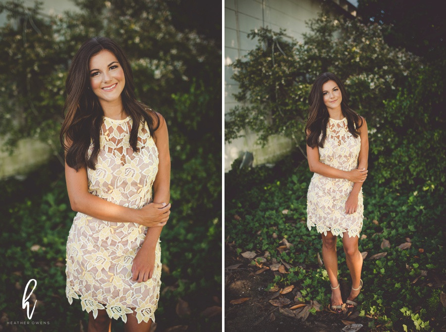natural formal senior photo inspiration