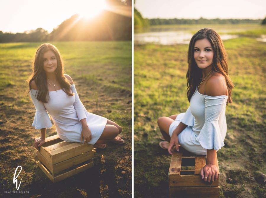 senior photo shoot at sunset
