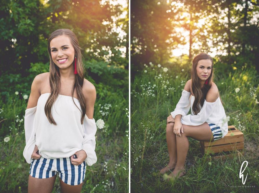 summer outdoor senior photos