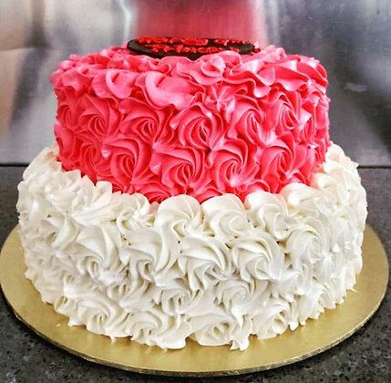 3D Cream Cake - Love (2 Tiers)