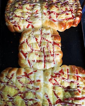 Cheese & chicken ham bun roll