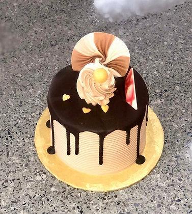 "3""Choco sponge cake(no writing on small cake)"