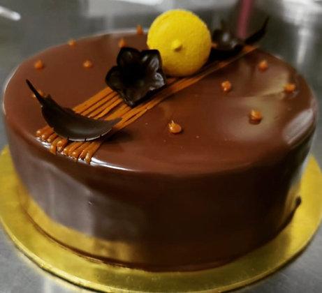 2D Cake - Salted Caramel & Nutella