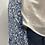 Thumbnail: Blue Herringbone Merino Lambswool with Liberty Faraway Tana Lawn