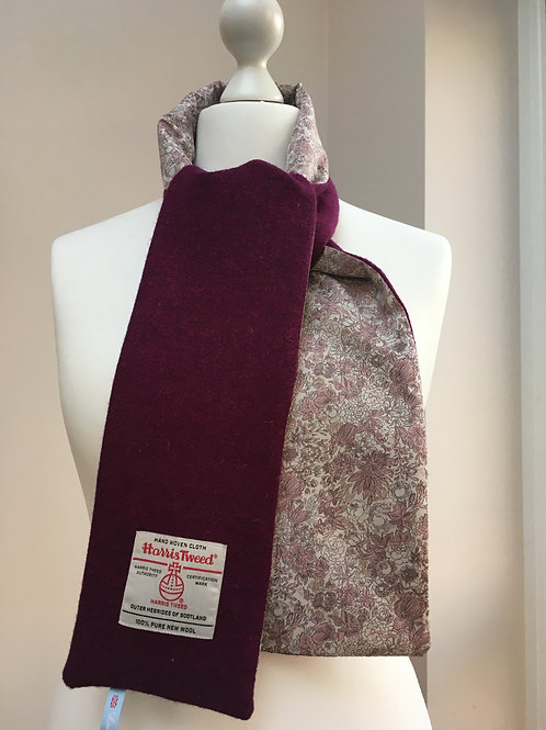 Harris Tweed Damson and Rose Paisley