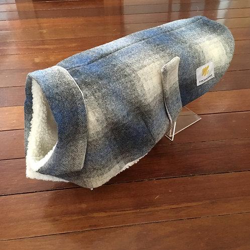 Dog Coat Blue and White Check