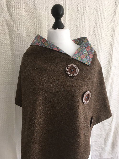 Brown Shetland with Liberty Tana Lawn Assorted Colours