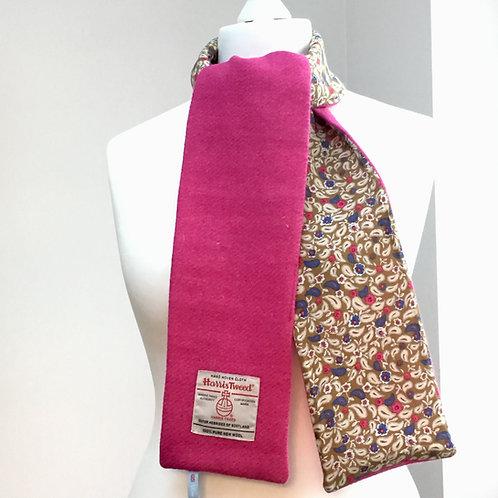 Harris Tweed Bubblegum Pink and Blue/Pink Paisley