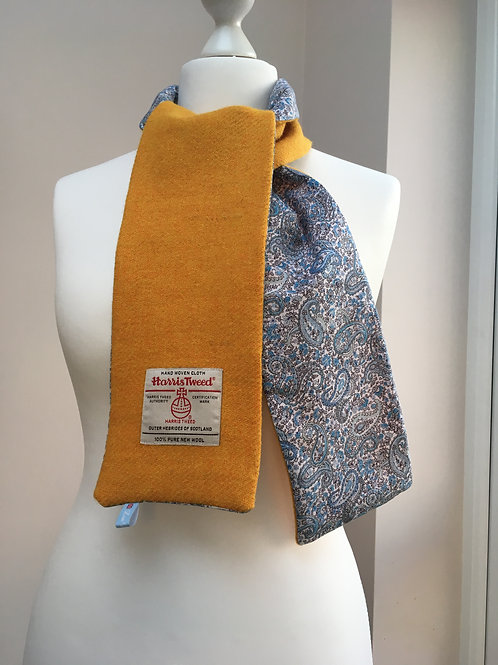 Harris Tweed Citrus and Blue/White Paisley