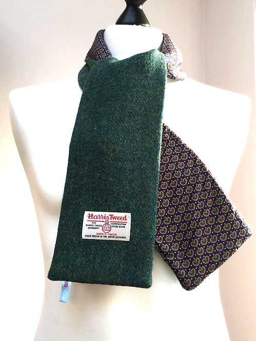 Harris Tweed Dark Green and Purple Peacock