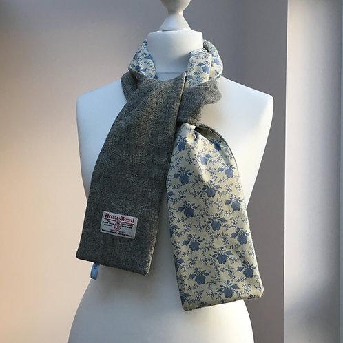 Harris Tweed Grey and Blue Flower