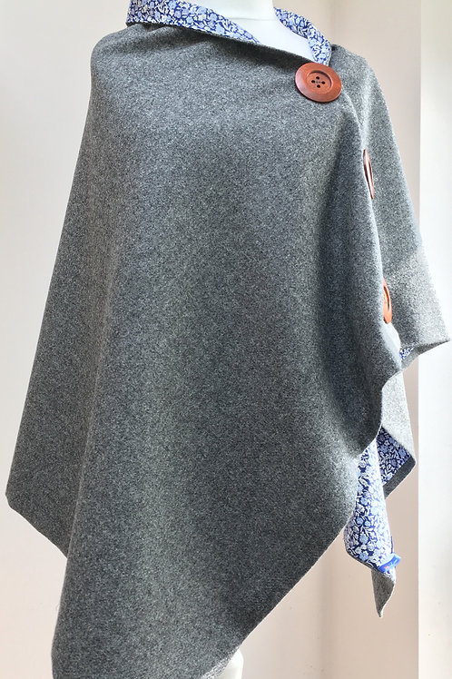 Charcoal Grey Shawl and True Blue Liberty