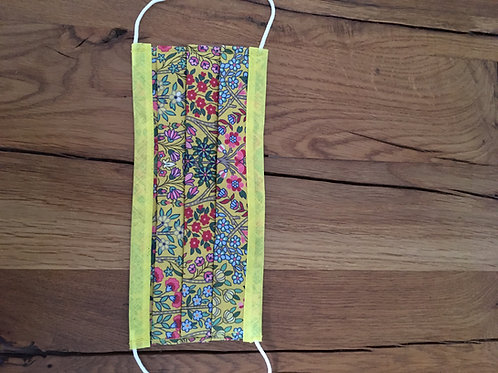 Liberty Tana Lawn Face Mask Yellow Kensington
