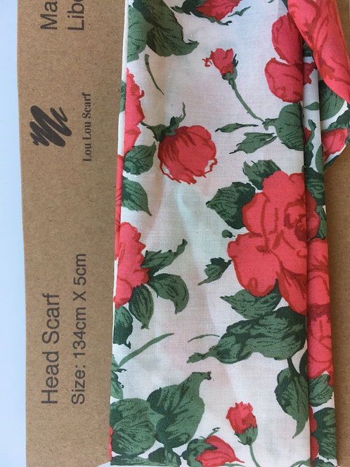 Red Carline Rose Liberty Tana Lawn