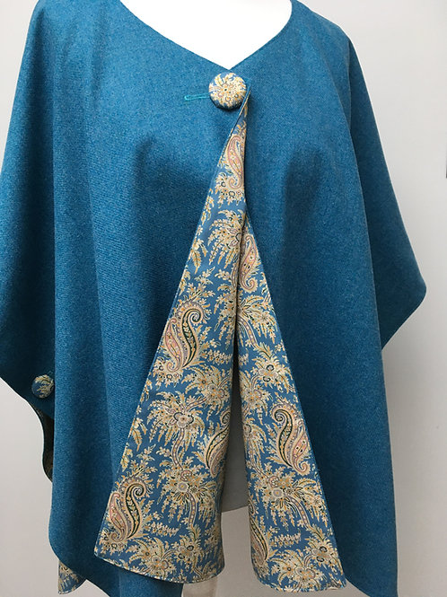 Blue Jay Merino Lambswool with Palm Paisley Tana Lawn