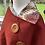 Thumbnail: Warm Red Shetland with Liberty Lord Paisley Tana Lawn