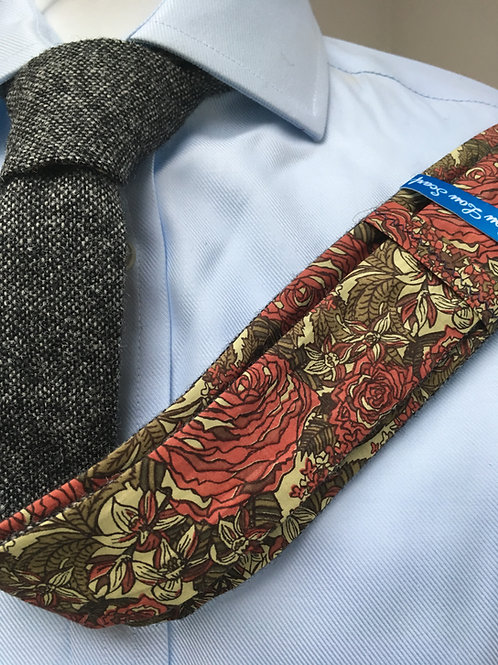 Grey Shetland Plain Weave Twill with Liberty Red/Fawn Flower Tana Lawn