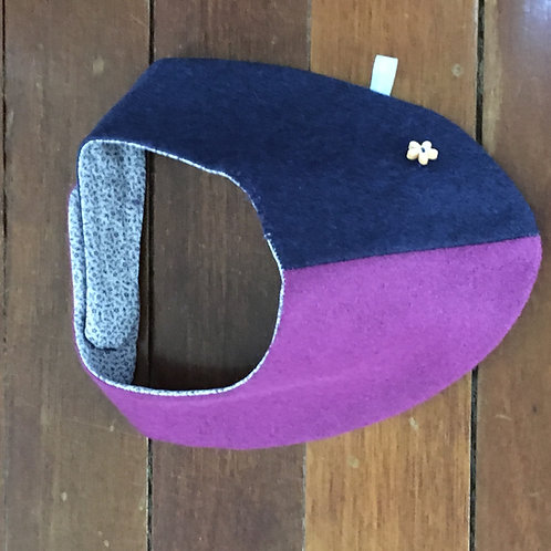 Dog Scarf Dark Blue and Purple