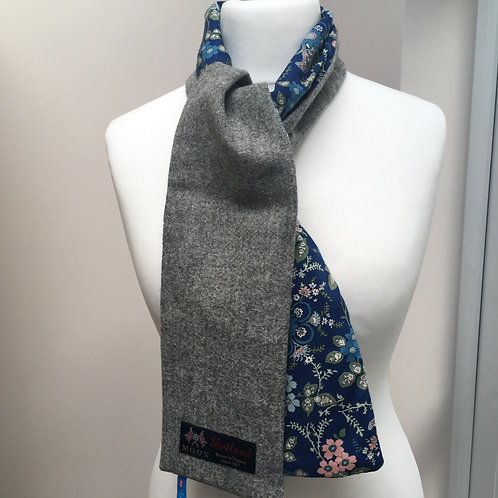 Grey Twill and Blue Flower Liberty