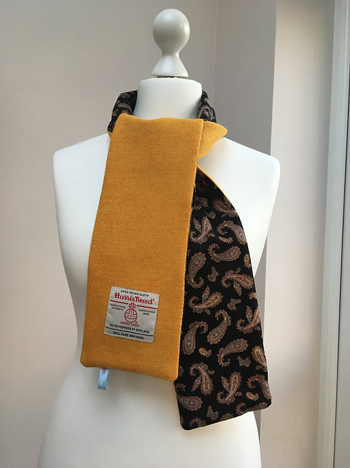 Harris Tweed Citrus and Black Paisley