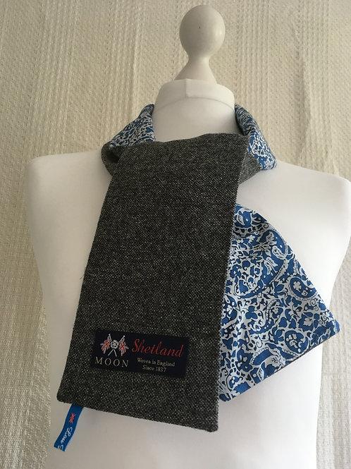 Grey twill and Blue Liberty Tana Lawn