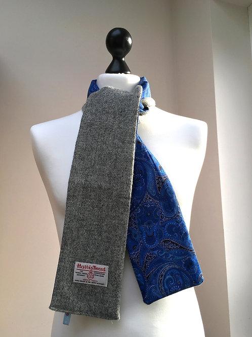 Harris Tweed Grey and Blue Paisley