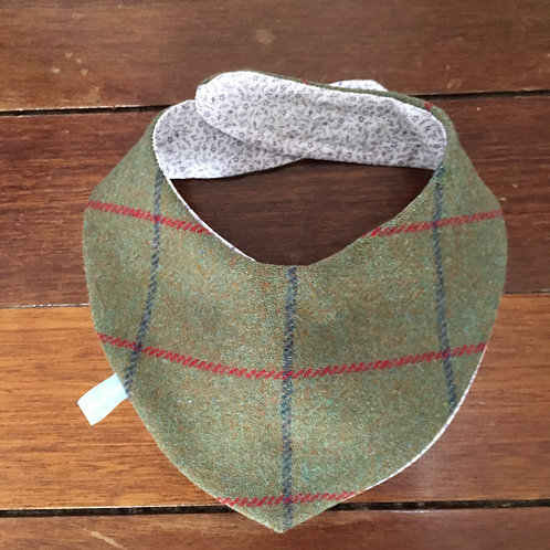 Dog Scarf Green, Red and Blue Check