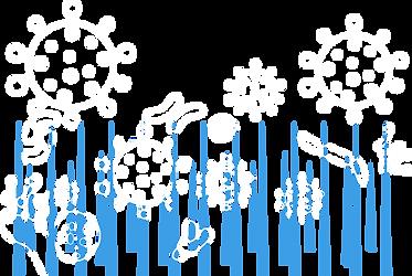 Antimic kimyasal bağlarının bir modellemesi: şişler üzerinde virüs, bakteri, mantar ve alg tasvirleri