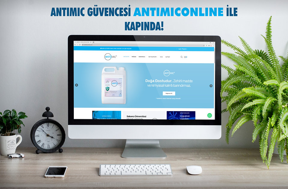 Bilgisayar monitöründe www.antimiconline.com ana sayfasının resmi