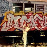 In the yard, circa '86-'87