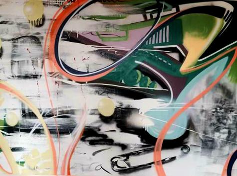 "36""x48"" mixed media on canvas"