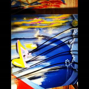 """36""""x48"""" aerosol on canvas"""