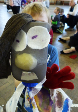 Puppet from early years workshops