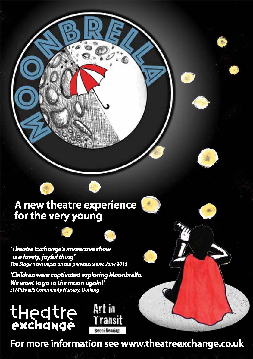 Flyer for the pilot performances of Moonbrella