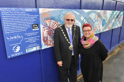 Mayor and Becci at Launch