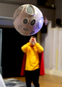 Picture from show - showing the moon prop