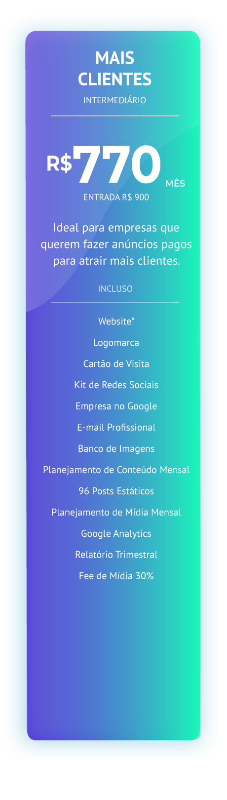 Mais Clientes - Infinity Digital Marketi