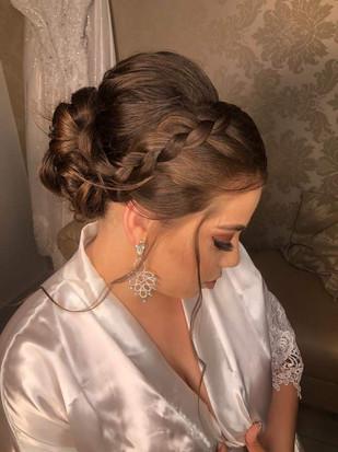 Penteado Coque Noiva com Trança - Penteados Leticia Rodrigues