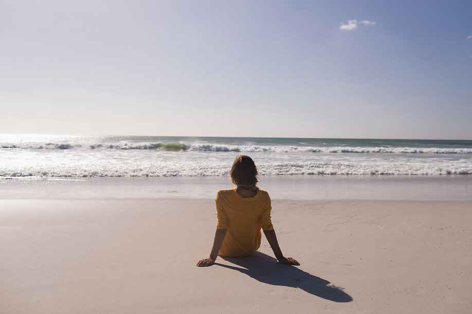 woman-relaxing-and-looking-at-view-on-th