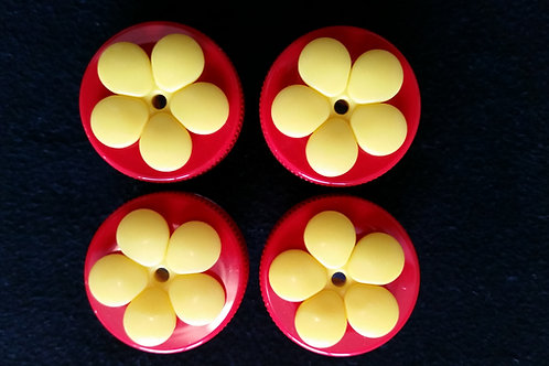 (4) Pack - Red Nectar DOTS Handheld Feeders