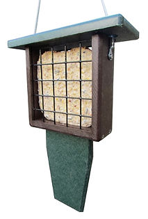 Poly Suet Feeder - Nature Products USA - Recycled Suet Log attracts woodpeckers, chickadees, titmice and others.