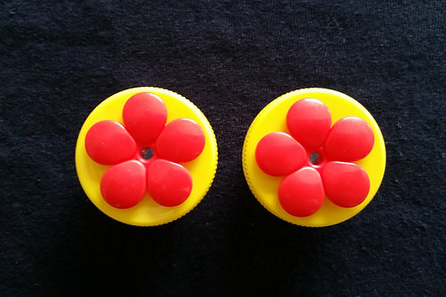 (2) Pack - Yellow Nectar DOTS Handheld Feeders
