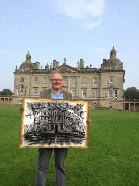 An ambulatory drawing made on the lawn at Houghton Hall