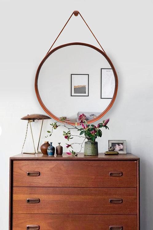 Espelho Redondo Caramelo