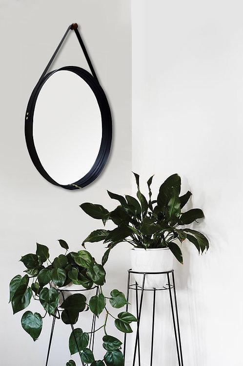 Espelho Redondo Preto